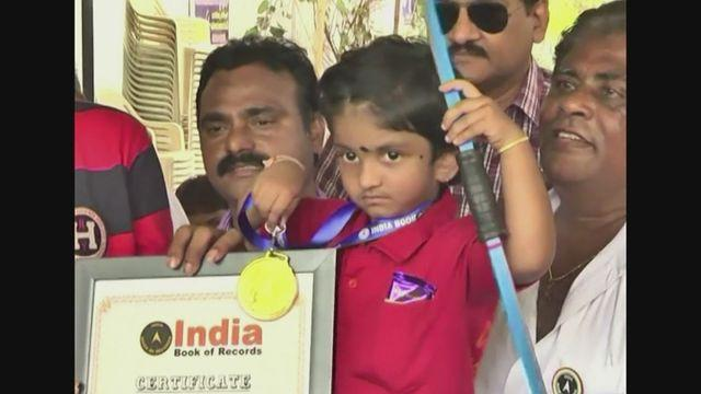Toddler from India sets youngest archer record