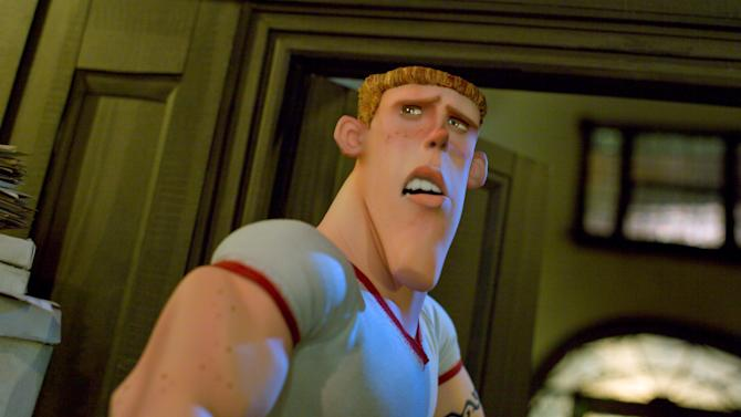 """This film image released by Focus Features shows the animated character Mitch, voiced by Casey Affleck, in a scene from """"ParaNorman."""" The character Mitch in the 2012 """"ParaNorman"""" was revealed at the end to be gay. The GLAAD advocacy group says that movie was an exception in a year that showed Hollywood's major studios are reluctant to include LGBT characters in important roles in their films. (AP Photo/Focus Features)"""