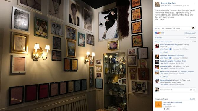 """Opened by Rue McClanahan's son and estate executor, Rue La Rue Cafe pays homage to the """"The Golden Girls"""" and features memorabilia from the show."""