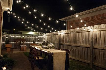 Create Ambiance with String Lights