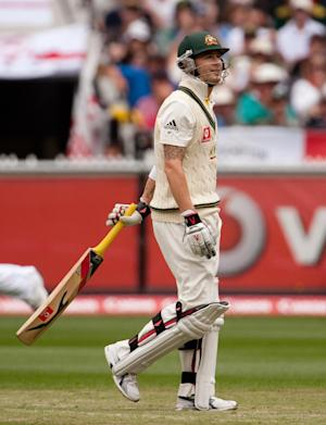 Michael Clarke was back at the crease for Australia