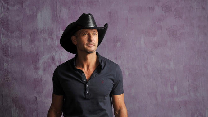 "In this Jan. 15, 2013 photo, Country singer and actor Tim McGraw poses for a portrait, in Nashville, Tenn. The Academy of Country Music announced Wednesday, Jan. 23, they will tape an all-star concert special, ""ACM Presents: Tim McGraw's Superstar Summer Night,"" ACM on Monday, April 8, 2013 at the MGM Grand Garden Arena in Las Vegas. It will be broadcast at a later date on the CBS Television Network. (Photo by Donn Jones/Invision/AP)"