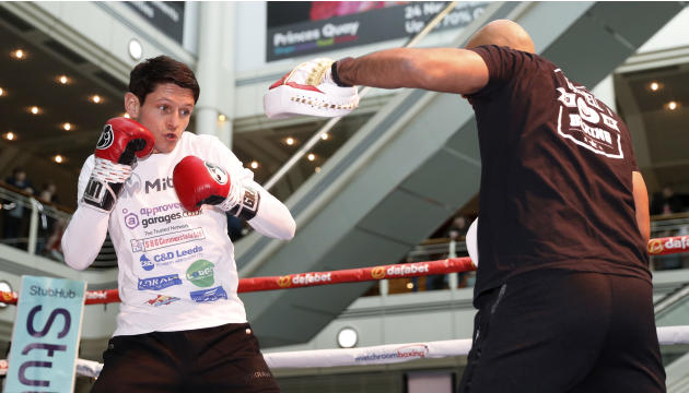Gavin McDonnell during the work out