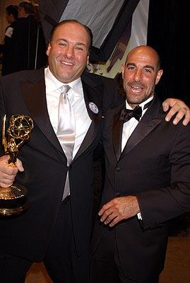 "James Gandolfini and Stanley Tucci Outstanding Actor in a Drama ""The Sopranos"" 55th Annual Emmy Awards - 9/21/2003"