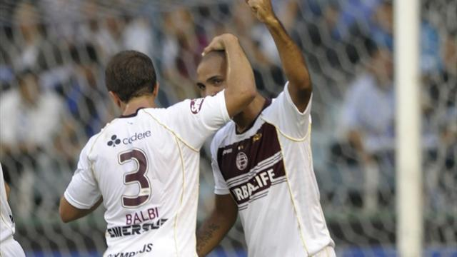 South American Football - Lanus recover lead, Quilmes move out of drop zone