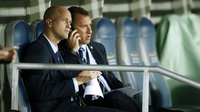 Maccabi Tel Aviv sporting director Jordi Cruyff before the match