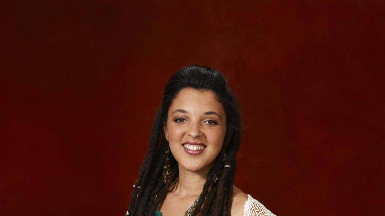 "Naia Kete (Team Blake) competes on ""The Voice."
