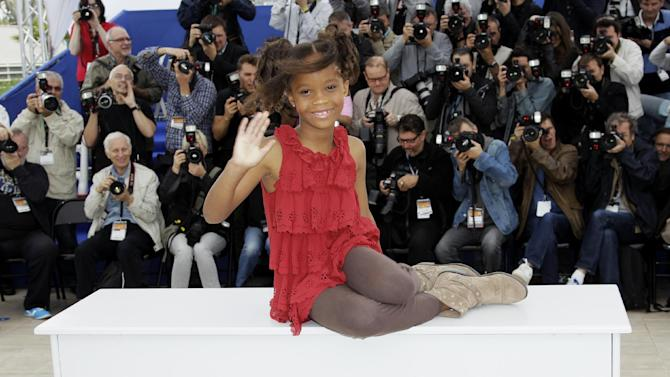 "FILE - In this May 19, 2012 file photo, actress Quvenzhane Wallis poses during a photo call for ""Beasts of the Southern Wild,"" at the 65th international film festival, in Cannes, southern France. Wallis is an actress of talent, poise and maturity well beyond her years. She was 6 when she played the part of Hushpuppy, and at only 9, she is the youngest-ever best actress nominee at the Academy Awards. (AP Photo/Francois Mori, File)"