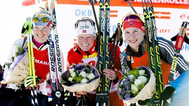 Biathlon - Berger closes on maiden title with another Oslo win