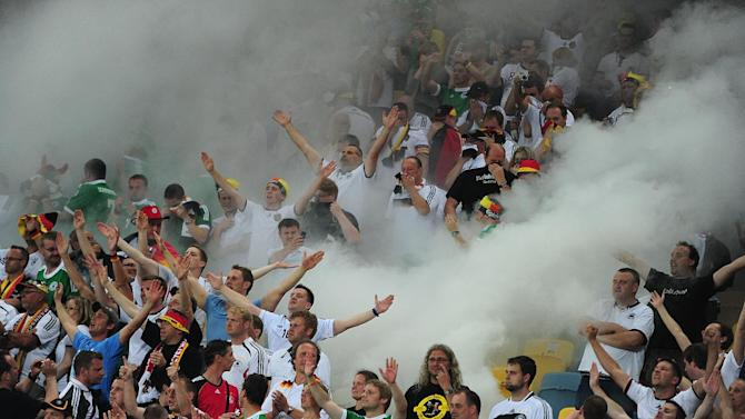 The behaviour of some Germany fans has attracted attention from UEFA