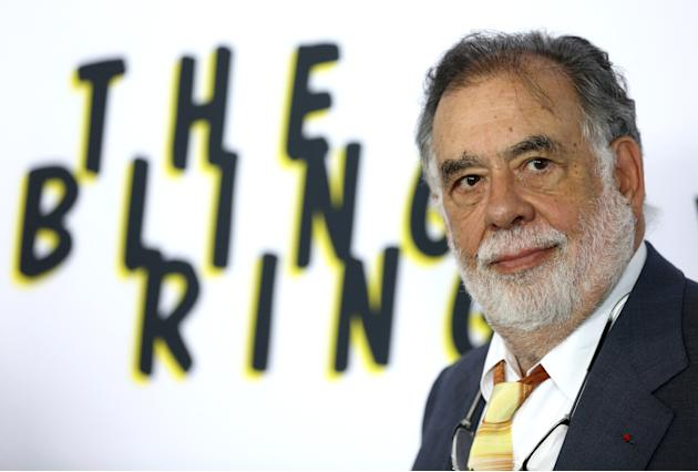 """FILE -In this June 4, 2013 file photo, Francis Ford Coppola arrives at the LA premiere of """"The Bling Ring"""" at the Director's Guild of America in Los Angeles. On Wednesday, May 6, 2015 U."""