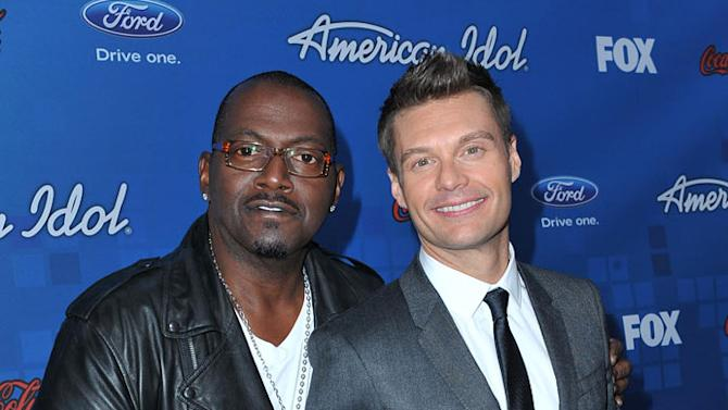 """Randy Jackson and Ryan Seacrest arrive at the """"American Idol"""" Top 13 Finalists Party on Thursday, March 3, 2011 at The Grove in Los Angeles, CA."""