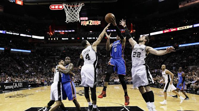 Basketball - Thunder strikes back to narrow Spurs deficit