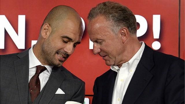 Bundesliga - Rummenigge plays down Guardiola-Barca rift