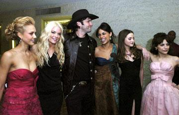 Premiere: Jessica Alba, Jaime King, director Robert Rodriguez, Rosario Dawson, Devon Aoki and Brittany Murphy at the Westwood premiere of Dimension Films' Sin City - 3/28/2005