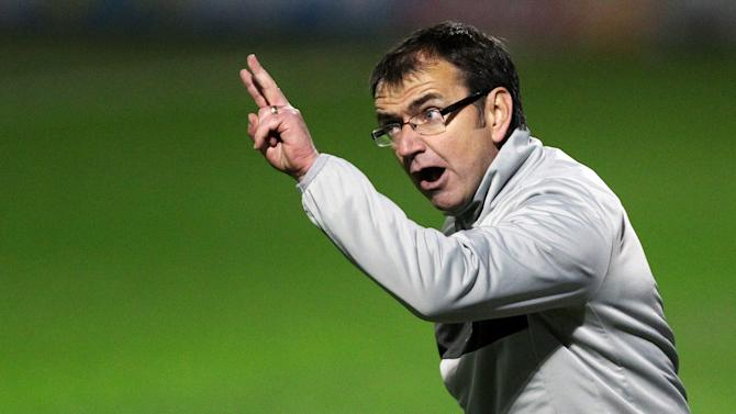 Pat Fenlon this week celebrated his first anniversary at Easter Road