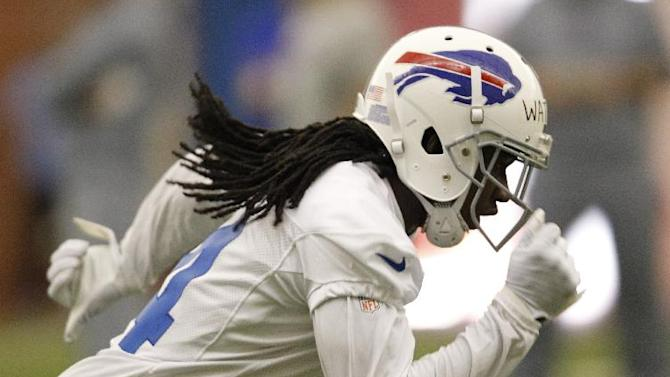 Buffalo Bills first-round draft pick Sammy Watkins takes part in drills uring NFL football rookie camp at the team's facility in Orchard Park, N.Y., Saturday, May 17, 2014