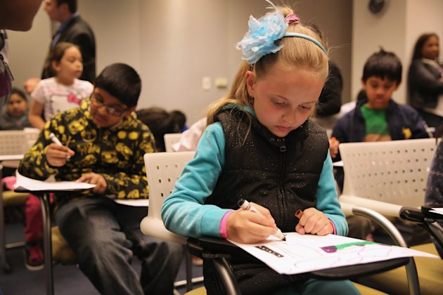 Few elementary schools in Ontario have access to guidance counsellors. (John Moore/Getty Images)