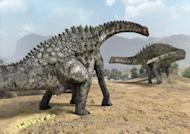 This is an artist's impression of the egg-laying of the sauropod Ampelosaurus.