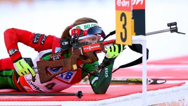 Biathlon - Domracheva denies Berger final sprint win of career