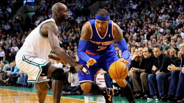 Basketball - Anthony fires Knicks to win over Celtics