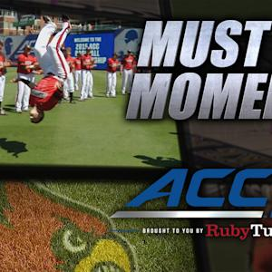 Louisville Players Flip and Get Psyched Before Game | ACC Must See Moment