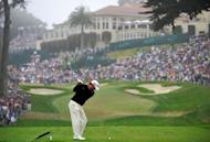 Graeme McDowell of Northern Ireland hits his tee shot on the eighth hole during the final round of the 112th US Open at The Olympic Club on June 17, 2012 in San Francisco, California