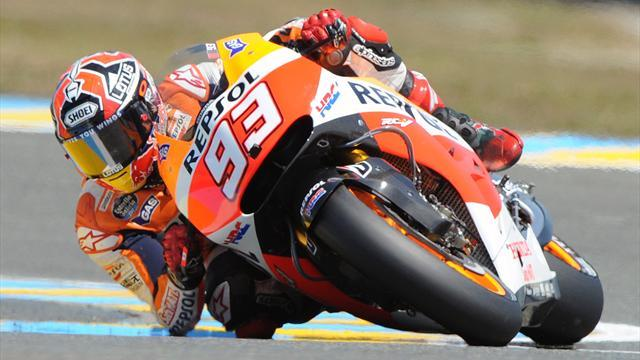 Motorcycling - Marquez charges through pack to win in France