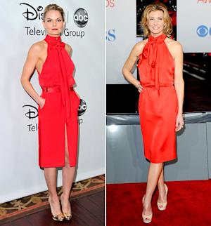 Yikes! Jennifer Morrison and Faith Hill Wear Nearly Identical Outfits