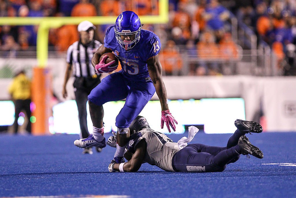 Boise State running back Jeremy McNichols has declared for the NFL draft. (Getty)