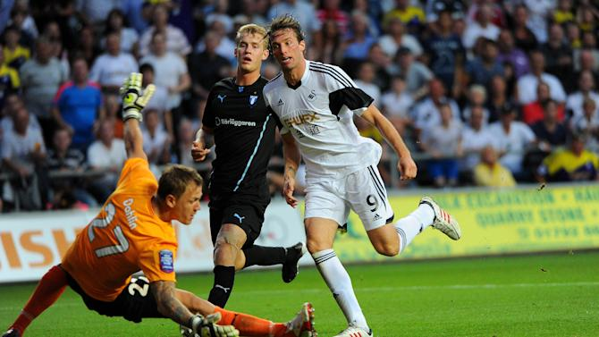 Soccer - UEFA Europa League - Third Qualifying Round - First Leg - Swansea v Malmo - Liberty Stadium