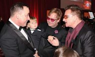 Elton John's Son Zachary Stars At Oscars Bash