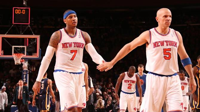 Kidd teases but Melo serious: No free agent talk