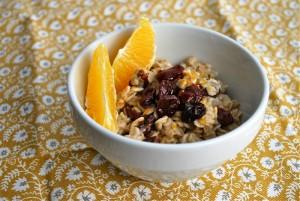 Orange and Cherry Oatmeal