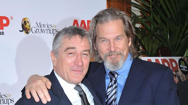 9th Annual Movies For Grownups Award Gala 2010 Jeff Bridges Robert De Niro