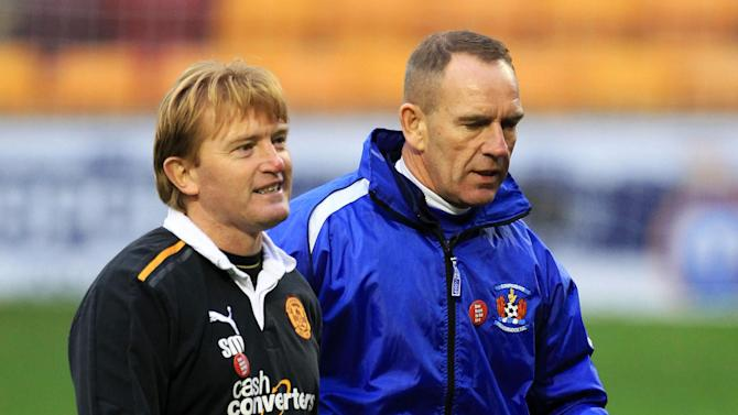 Stuart McCall (left) and Kenny Shiels