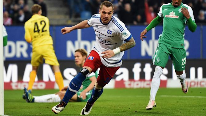 Hamburg 2 Werder Bremen 1: Lasogga at the double to increase Werder worries