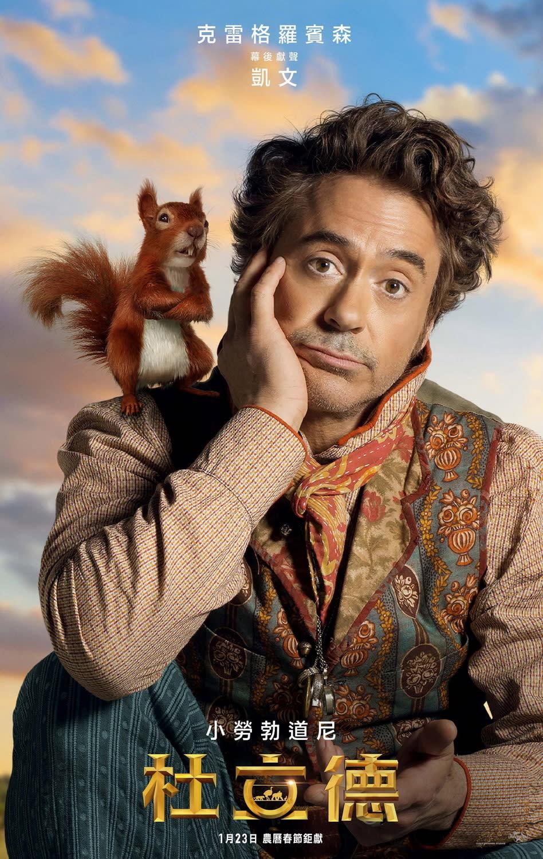 凱文,克雷格羅賓森配音:一隻自我感覺良好的帥氣松鼠,重現《疤面煞星》台詞:「跟我的小朋友問好。」