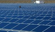 Photo illustration of solar panels in Boulder City, Nevada. China on Friday started a probe into alleged US dumping of solar products and government subsidies for the sector, the latest volley in a trade row between the world's top two economies