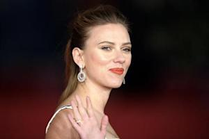 "Cast member Scarlett Johansson arrives for a red carpet event for the movie ""Her"" at the Rome Film Festival"