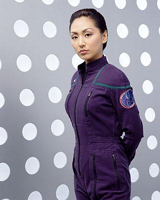 Linda Park as Ensign Hoshi Sato on UPN's Enterprise Enterprise