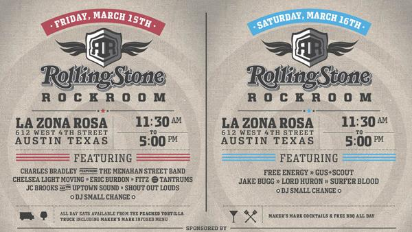 Rolling Stone Announces SXSW Rock Room Day Parties