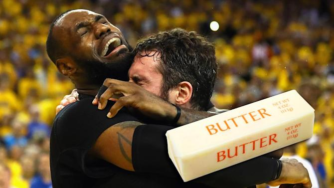 Mustard Minute: Cleveland Cavaliers enshrined in butter because butter sculpting is a thing