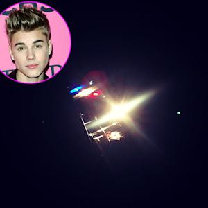 Justin Bieber Instagrams Photo of Cop Car After Getting Pulled Over