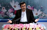 Iranian President Mahmoud Ahmadinejad holds a press conference in Tehran on October 2, 2012. More than two months after US President Barack Obama's re-election opened the way for new six-power nuclear talks with Iran, no date or location for their first meeting since June has been set