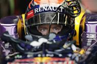 Red Bull Formula One driver Sebastian Vettel of Germany sits in his car during the second practice session of the Italian F1 Grand Prix at the Monza circuit September 6, 2013. REUTERS/Max Rossi