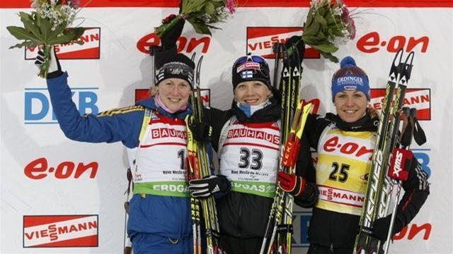 Biathlon - Makarainen beats out Neuner