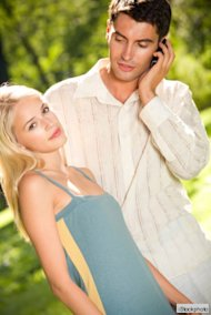 couple with cell phone