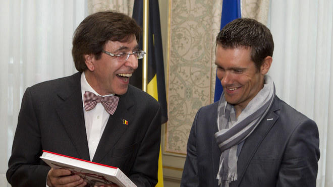 Belgian Prime Minister Elio Di Rupo (L) Meets AFP/Getty Images