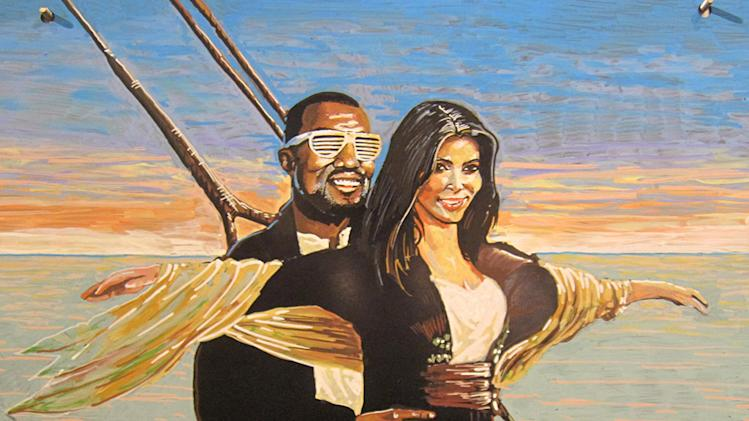 Kim Kardashian and Kanye West on Titanic